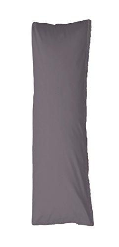 Bellana Seitenschläferkissen Bezug Stillkissen Mako Jersey 40x140 cm Farbe: grau