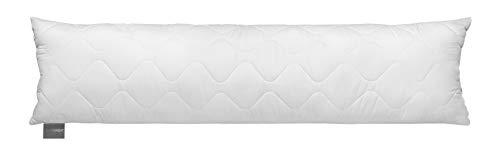 Traumnacht Seitenschläferkissen aus softer Microfaser, 1.200 Gramm Füllgewicht mit Reißverschluss, 40 x 145 cm, waschbar, Öko-Tex zertifiziert