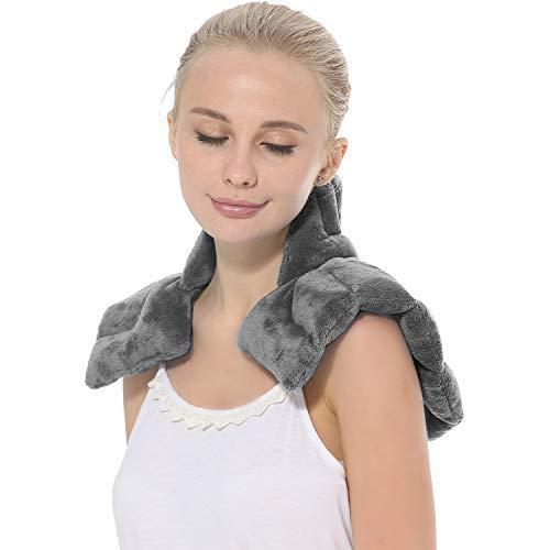 AROMA SEASON Kirschkernkissen Nacken und Schulter für Mikrowelle mit Duftaroma   Körnerkissen   Wärmekissen   Nackenkissen
