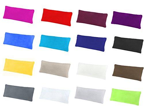 NatureMark 2er Pack Jersey Kissenbezug Kissenhülle Kissenbezüge Seitenschläferkissen Nackenkissen viele Größen und Farben ÖKO-TEX (40 x 145 cm (Seitenschläfer/Stillkissenbezug), Anthrazit grau)
