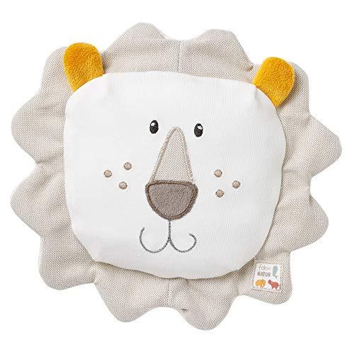 Fehn 056198 Traubenkernkissen Löwe fehnNATUR – Bio-Stoffhülle mit entnehmbarem Wärme-Kälte-Säckchen – Für Babys und Kleinkinder ab 0+ Monaten – Größe: 19 x 19 cm
